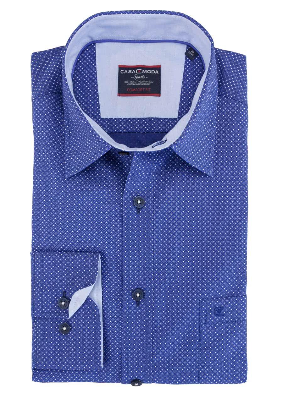 Dieses CASAMODA Hemd mit Brusttasche eignet sich durch die reine  Baumwollqualität und den bequemen Schnitt ideal für die Freizeit. f5d00df16e