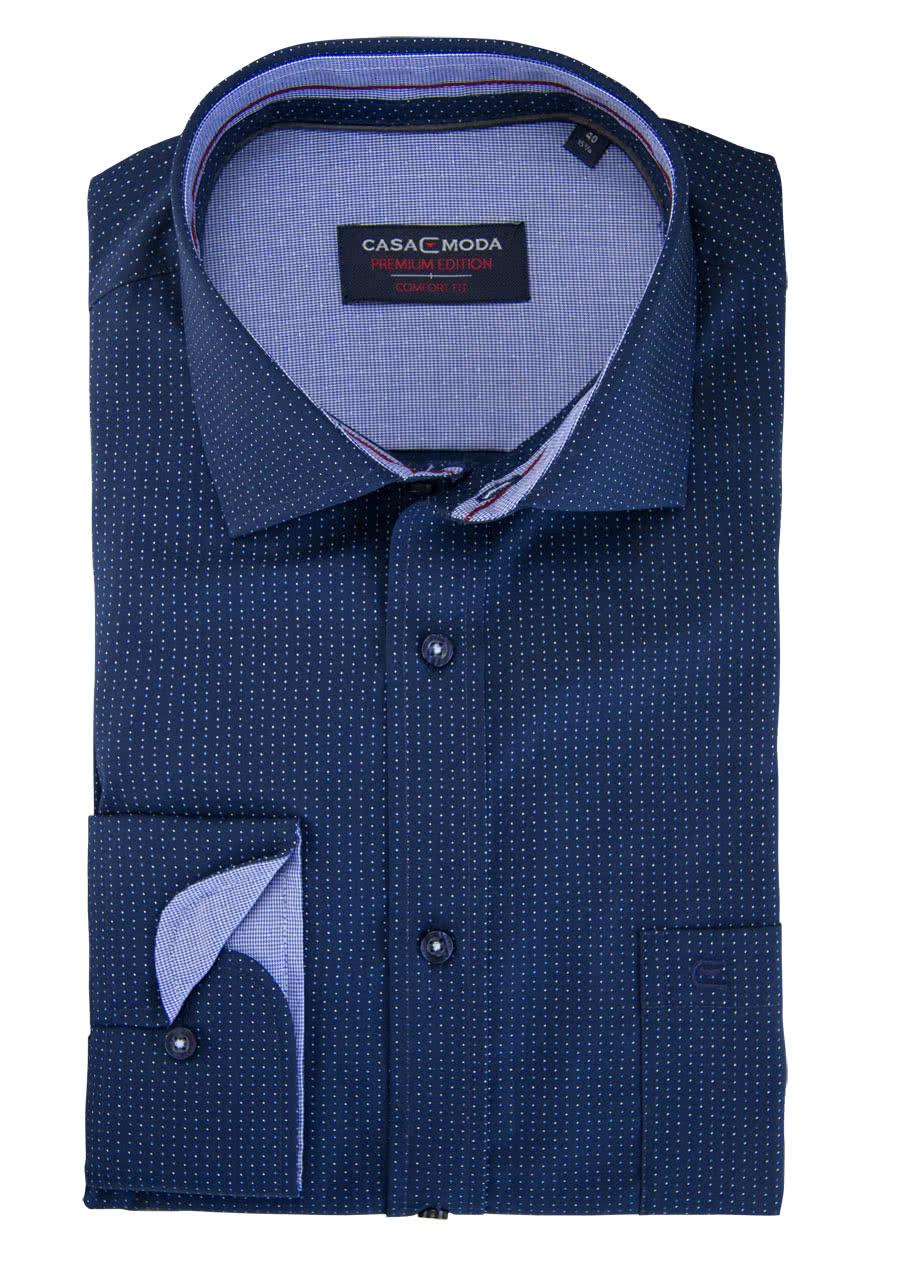 CASAMODA Comfort Fit Hemd super langer Arm Muster blau AL 72 - Gr ...
